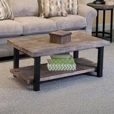 Wood Side Table Loon Peak Somers 42 Wood Metal Coffee Table Reviews Wayfair