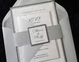 and silver wedding wedding invitations etsy