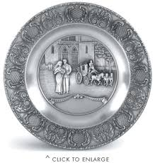 wedding plate artina pewter wedding plate 9in artina pewter plates