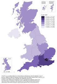 Counties In England Map by Regional Gross Disposable Household Income Gdhi Office For