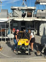 two undergraduate students traveled aboard the research vessel