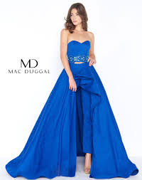 prom jumpsuit prom two jumpsuit with overskirt mac duggal 48599a