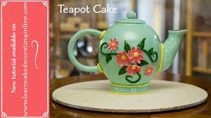 make a teapot cake youtube