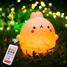 kids night light with timer usb led night light silicone remote timer cute l cartoon tap
