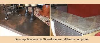 recouvrir un comptoir de cuisine enduit de béton décoratif skimstone pour murs comptoirs et