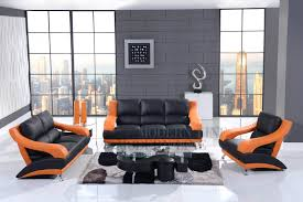 Living Room Black Leather Sofa Modern Line Furniture Commercial Furniture Custom Made