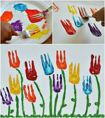 kids painting with forks kids crafts pinterest love this