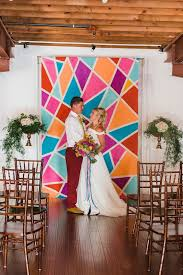 wedding backdrop and stand 31 trendy geometric wedding backdrops weddingomania