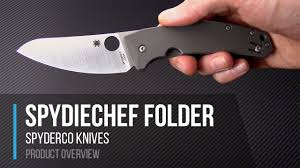 folding kitchen knives spyderco spydiechef slysz design folding kitchen knife overview