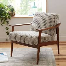 Upholstered Chairs Living Room Mid Century Show Wood Chair Mid Century Woods And Living Rooms