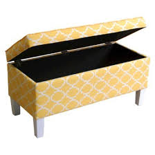 yellow storage bench treenovation