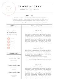 Graphic Resume Templates A Clean Resume Design Job Search Pinterest Cleaning And Career