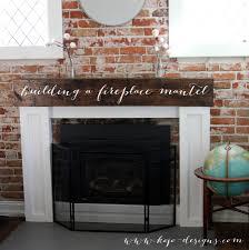 How To Build Fireplace Mantel Shelf - building a mantel on a brick fireplace fireplace ideas