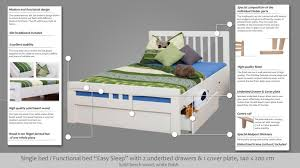 High Single Bed With Storage Single Bed Storage Bed K8