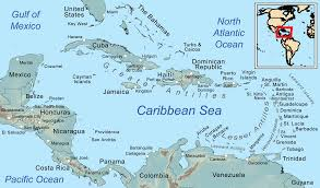 Map Of North America And Can by Caribbean Sea Acts Like A Whistle And Can Be U0027heard U0027 From Space