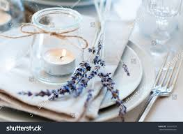 dining table setting provence style candles stock photo 160531529