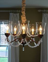 Chandelier Cover Dining Room Brass Chandelier Makeover In My Own Style
