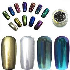 14 color gel polish nail glitter silver mirror powder nails vtirka