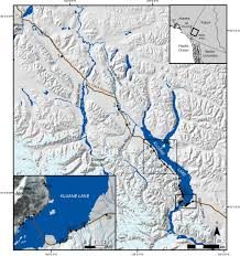 Alaska Highway Map by Debris Flow Chronology And Potential Hazard Along The Alaska