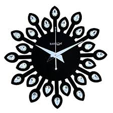 Wall Clocks Buy Random Clocks Jewel Leaf Round Wood Wall Clock 30 Cm X 30 Cm