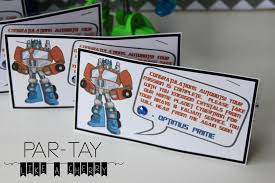 transformer party favors transformers party favors party like a cherry