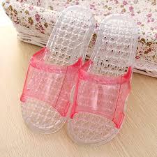 wholesale women bedroom slippers plastic sandals upper transparent