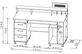 taille bureau bureau informatique contemporain blanc noir andria bureau bureau