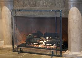lowes fireplace doors glass metal screen gas screens 1526