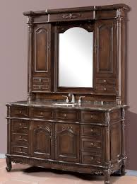 elena 64 inch single bath vanity with marble top and hutch