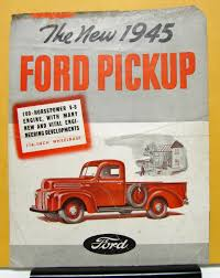 Vintage Ford Truck Brochures - ford pickup 100 hp v8 engine sales brochure and specifications