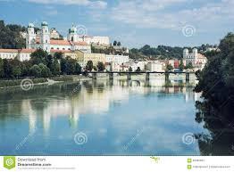 Passau Germany Map by Beautiful Passau Lower Bavaria Germany Stock Photo Image 60365632