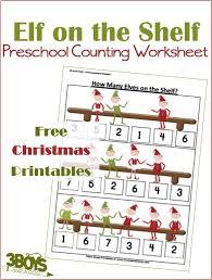 christmas printable worksheets elf counting u2013 3 boys and a dog