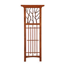 Arbor Trellis Plans Matthews Four Seasons Hickory Wood Metal Trellis Lowe U0027s Canada