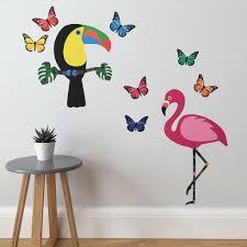 tropical wall sticker set u2013 chameleon wall art