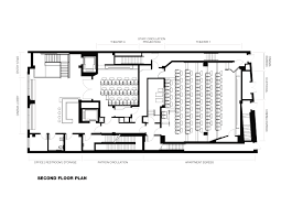 Studio Plans by Gallery Of Nitehawk Cinema And Apartments Caliper Studio 25