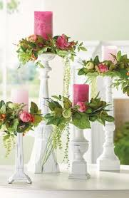 flower candle rings set of five candle rings candle rings candlesticks and