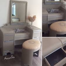 Art Deco Bathroom Sink Mid Century Art Deco Waterfall Vanity With Burlap Covered Oval