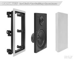 home theater in wall speakers amazon com pyle pdiw65 in wall in ceiling 6 5 inch stereo