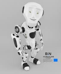 humanlike cute robot bulldozer