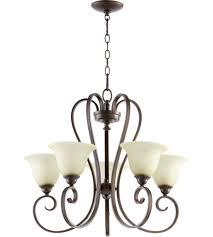 5 Light Bronze Chandelier Quorum 6053 5 86 Celesta 5 Light 26 Inch Bronze Chandelier