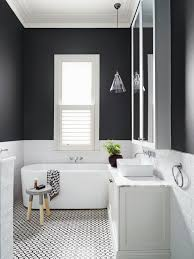 des salles de bain black and white bathroom tiling