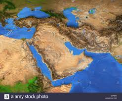 Middle East Map by Middle East Map Gulf Region Detailed Satellite View Of The