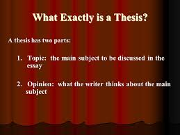 The Thesis Statement For Opinion Essays  First    what is not a