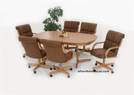 Kitchen Table With Caster Chairs Beauty Dining Room Chairs With Casters Sets 2 Dining Room Chairs
