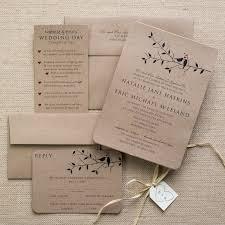 bird wedding invitations kraft bird wedding invitations