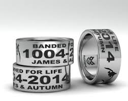 duck band wedding rings personalized sterling silver goose duck band ring custom