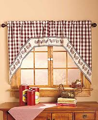 Swag Kitchen Curtains Rooster Kitchen Curtains Shop Everything Log Homes