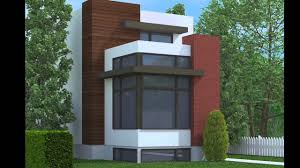 Narrow House Plans by Contemporary Narrow Lot Home Plans Youtube