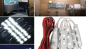 Camper Van Interior Lights Wiipro 12v 40 Leds Rv Interior Light Bar Kits Under Ceiling Dome