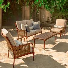 Ultimate Patio Furniture by Arabella 4 Piece Aluminum Patio Conversation Set W Loveseat 2